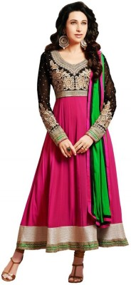 Radhe Fashion Georgette Embroidered Salwar Suit Dupatta Material