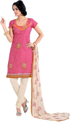 Aditi Collection Chanderi Embroidered Salwar Suit Dupatta Material
