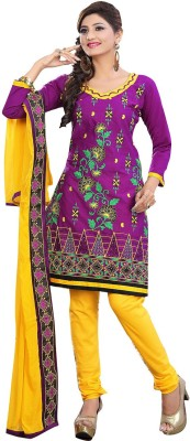 Family Shop Cotton Embroidered Salwar Suit Material