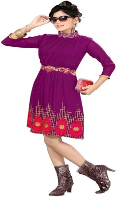 JS Pavitra Fabrics Georgette Embroidered Kurti Fabric