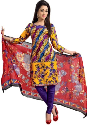 Fashion Founder Cotton Printed Salwar Suit Dupatta Material