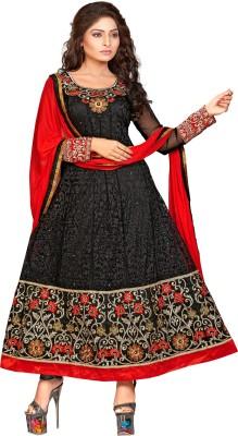 Fabfiza Net Embroidered Semi-stitched Salwar Suit Dupatta Material