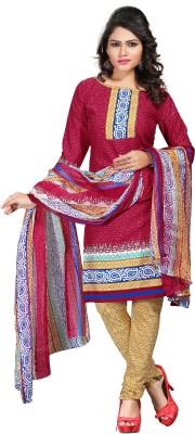 Shopeezo Crepe Geometric Print Salwar Suit Dupatta Material