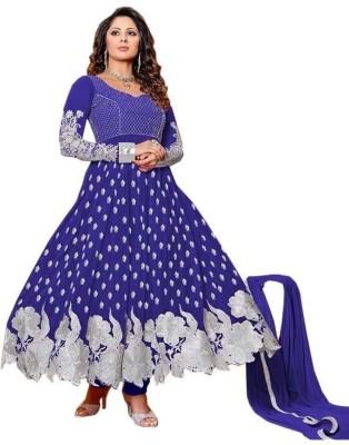 Mitwa Georgette Embroidered Semi-stitched Salwar Suit Dupatta Material