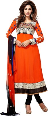 Anarkali Plus Synthetic Georgette Self Design Semi-stitched Salwar Suit Dupatta Material