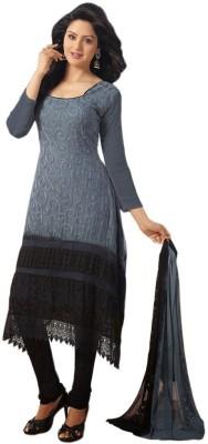 RajLaxmi Georgette Solid Semi-stitched Salwar Suit Dupatta Material