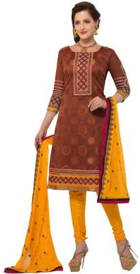 Jayanti Sarees Jacquard Embroidered Dress/Top Material