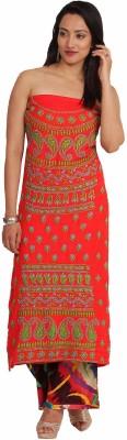 Kasturi-B Swadeshi Karigari Rayon Embroidered Kurta & Palazzo Material