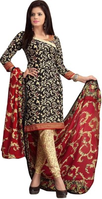Nazaquat Crepe Printed Salwar Suit Dupatta Material