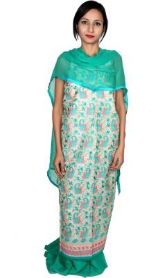 Estelo Chanderi Embroidered Salwar Suit Dupatta Material