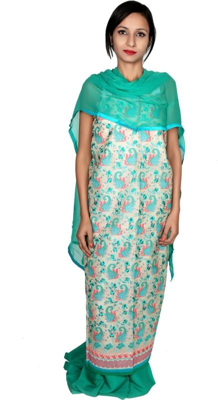 Estelo Chanderi Embroidered Salwar Suit Dupatta Material(Un-stitched)