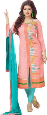Vibes Chanderi Embroidered Salwar Suit Dupatta Material