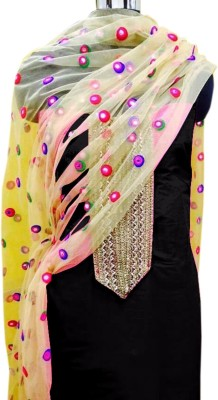 Accurate Collection Cotton Embroidered Semi-stitched Salwar Suit Dupatta Material