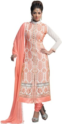 Avtrendz Georgette Embroidered Salwar Suit Dupatta Material