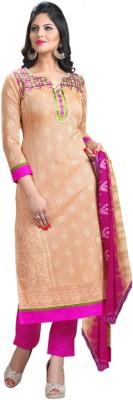 Ligalz Cotton Embroidered Semi-stitched Salwar Suit Dupatta Material at flipkart