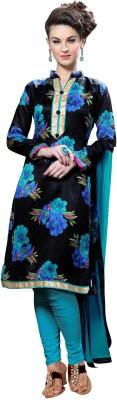 JK apparels Brocade, Art Silk, Organza Printed Salwar Suit Dupatta Material