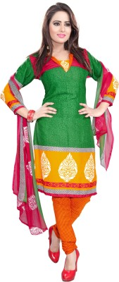 Raagvi Crepe Printed Salwar Suit Dupatta Material
