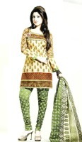 RSfantasea Chanderi Embroidered Semi-stitched Salwar Suit Material