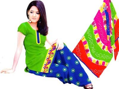 Fashion flash Cotton, Chiffon Embroidered Salwar Suit Dupatta Material
