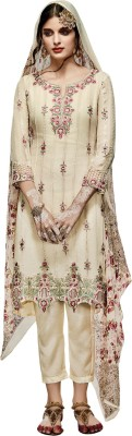 Bhelpuri Georgette, Chiffon Embroidered Dress/Top Material