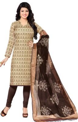 Shopeezo Chanderi Geometric Print Salwar Suit Dupatta Material
