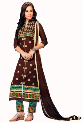 Uppa Cotton Printed Semi-stitched Salwar Suit Dupatta Material