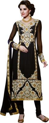 Saara Georgette Self Design, Solid Salwar Suit Dupatta Material(Un-stitched) at flipkart