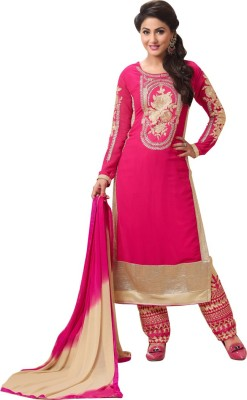 Araja Georgette Embroidered Salwar Suit Dupatta Material