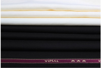 Vimal Cotton Polyester Blend Solid Shirt & Trouser Fabric