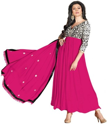 Desi By Design Georgette Embroidered Semi-stitched Salwar Suit Dupatta Material