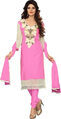 Lunawat Synthetics Cotton Silk Blend Embroidered Salwar Suit Dupatta Material