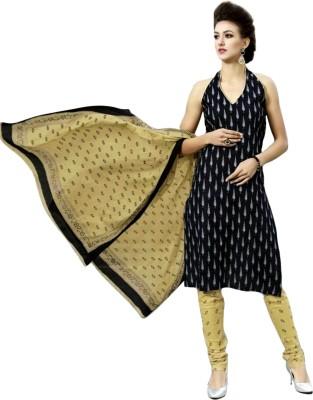 Priyanshi Cotton Printed Salwar Suit Dupatta Material(Un-stitched) at flipkart
