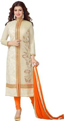 Viha Cotton Embroidered Semi-stitched Salwar Suit Dupatta Material