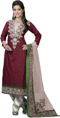 Diyastyle Cotton Self Design Salwar Suit Dupatta Material