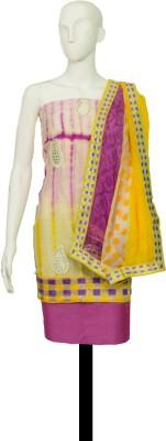 Satyam Shivam Sundaram Chanderi Printed Salwar Suit Dupatta Material