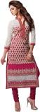 Abhinna Cotton Embroidered Dress/Top Mat...