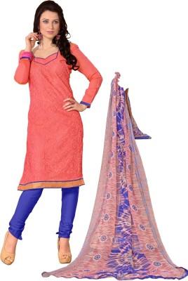 Bunny Sarees Chanderi Embroidered Salwar Suit Dupatta Material