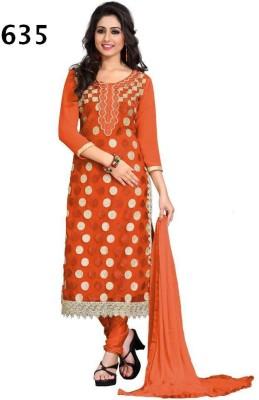 Avani Textiles Net, Georgette Embroidered Semi-stitched Salwar Suit Dupatta Material