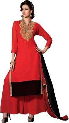 Varanga Georgette Embroidered Semi-stitched Salwar Suit Dupatta Material