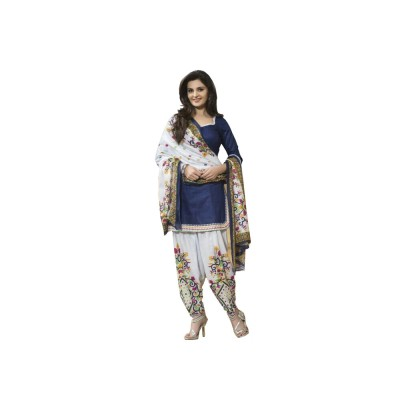 Fashion Ritmo Cotton Self Design Salwar Suit Dupatta Material