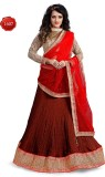 Parvati Fabrics Silk Self Design Lehenga...