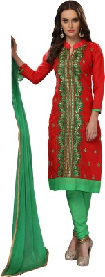 JAMBOREE Chanderi Embroidered Salwar Suit Dupatta Material