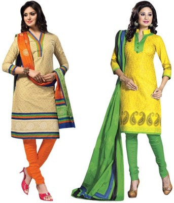 Drapes Cotton Printed Salwar Suit Dupatta Material