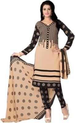 Eshantraders Crepe Printed Salwar Suit Dupatta Material