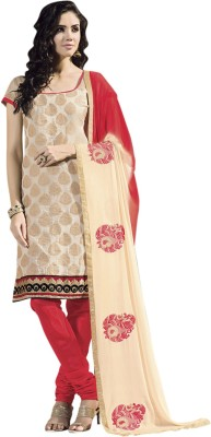 Ganga Fashion Chanderi Embroidered Salwar Suit Dupatta Material