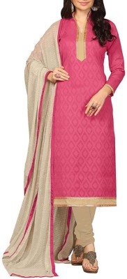 Shahlon Cotton, Chiffon, Jacquard Printed Salwar Suit Dupatta Material