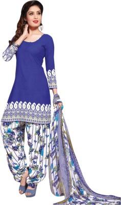 Triveni Polyester Printed Salwar Suit Dupatta Material