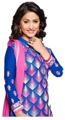 Sapnacollection Cotton Embroidered Salwar Suit Dupatta Material