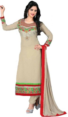 First Look Georgette Embroidered Semi-stitched Salwar Suit Dupatta Material