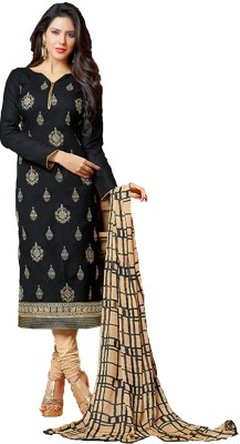Raagvi Cotton Embroidered Salwar Suit Dupatta Material
